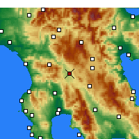 Nearby Forecast Locations - Megalopolis - mapa