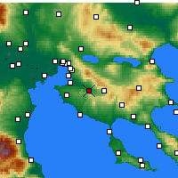 Nearby Forecast Locations - Vasilika - mapa