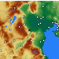 Nearby Forecast Locations - Weria - mapa