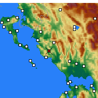 Nearby Forecast Locations - Margariti - mapa