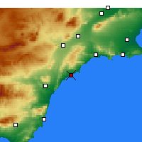 Nearby Forecast Locations - Águilas - mapa