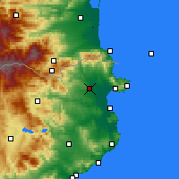 Nearby Forecast Locations - Figueres - mapa