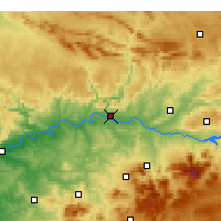 Nearby Forecast Locations - Andújar - mapa