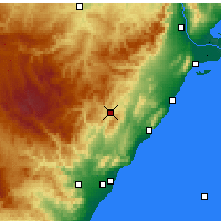 Nearby Forecast Locations - Albocàsser - mapa