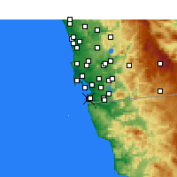 Nearby Forecast Locations - Imperial Beach - mapa