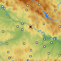 Nearby Forecast Locations - Vichtenstein - mapa