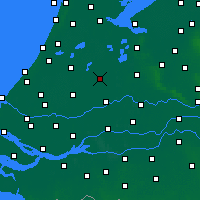 Nearby Forecast Locations - Woerden - mapa