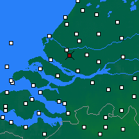 Nearby Forecast Locations - Spijkenisse - mapa