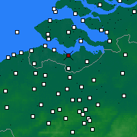Nearby Forecast Locations - Terneuzen - mapa