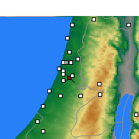 Nearby Forecast Locations - Ramla - mapa