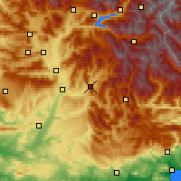 Nearby Forecast Locations - Digne-les-Bains - mapa