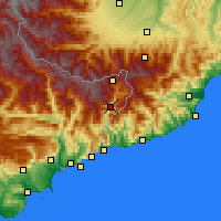 Nearby Forecast Locations - Fontan - mapa