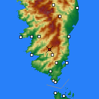 Nearby Forecast Locations - Aullène - mapa