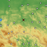 Nearby Forecast Locations - Jasło - mapa
