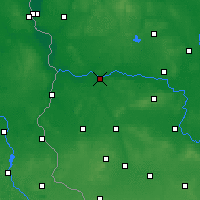 Nearby Forecast Locations - Krosno Odrzańskie - mapa