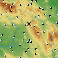 Nearby Forecast Locations - Kudowa-Zdrój - mapa