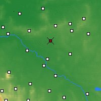 Nearby Forecast Locations - Oleśnica - mapa