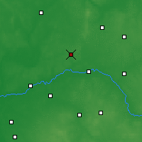 Nearby Forecast Locations - Ostrów Mazowiecka - mapa