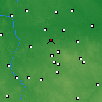 Nearby Forecast Locations - Ozorków - mapa