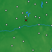 Nearby Forecast Locations - Słupca - mapa