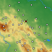 Nearby Forecast Locations - Świdnica - mapa