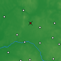 Nearby Forecast Locations - Zambrów - mapa