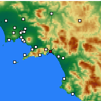 Nearby Forecast Locations - Salerno - mapa