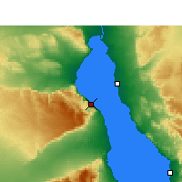 Nearby Forecast Locations - Wade El Dom Marina - mapa