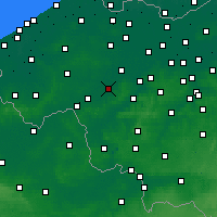 Nearby Forecast Locations - Waregem - mapa