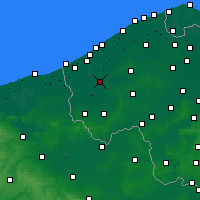 Nearby Forecast Locations - Diksmuide - mapa