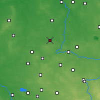 Nearby Forecast Locations - Wieluń - mapa