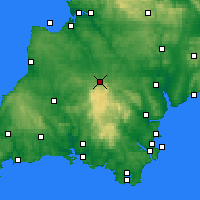 Nearby Forecast Locations - Okehampton - mapa