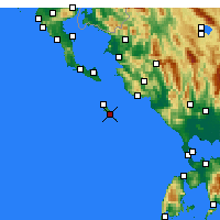 Nearby Forecast Locations - Gaios - mapa