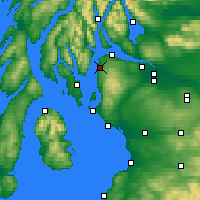 Nearby Forecast Locations - Inverkip - mapa