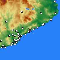 Nearby Forecast Locations - Sant Andreu de Llavaneres - mapa