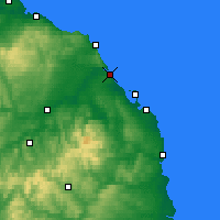 Nearby Forecast Locations - Berwick-upon-Tweed - mapa
