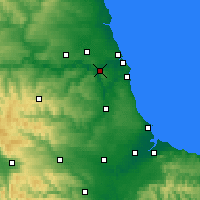 Nearby Forecast Locations - Gateshead - mapa