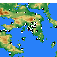 Nearby Forecast Locations - Pireus - mapa