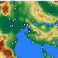 Nearby Forecast Locations - Kalamaria - mapa