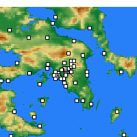 Nearby Forecast Locations - Chalandri - mapa
