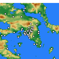 Nearby Forecast Locations - Nea Jonia - mapa