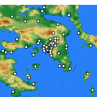 Nearby Forecast Locations - Paleo Faliro - mapa