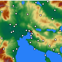 Nearby Forecast Locations - Sikies - mapa