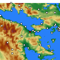 Nearby Forecast Locations - Lechajon - mapa