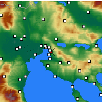 Nearby Forecast Locations - Pilea - mapa