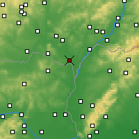 Nearby Forecast Locations - Brzecław - mapa