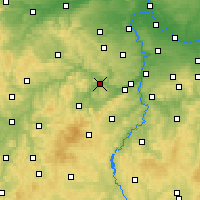 Nearby Forecast Locations - Beroun - mapa