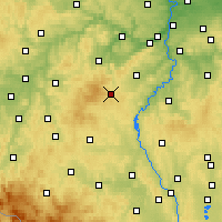 Nearby Forecast Locations - Przybram - mapa