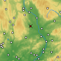 Nearby Forecast Locations - Prościejów - mapa