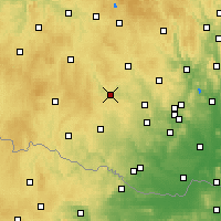 Nearby Forecast Locations - Třebíč - mapa
